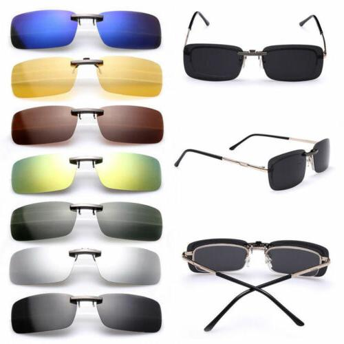 Polarized Day Night Vision Flip Lens Driving Glasses