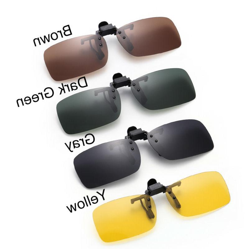 Polarized Glasses Day Night Vision Clip On