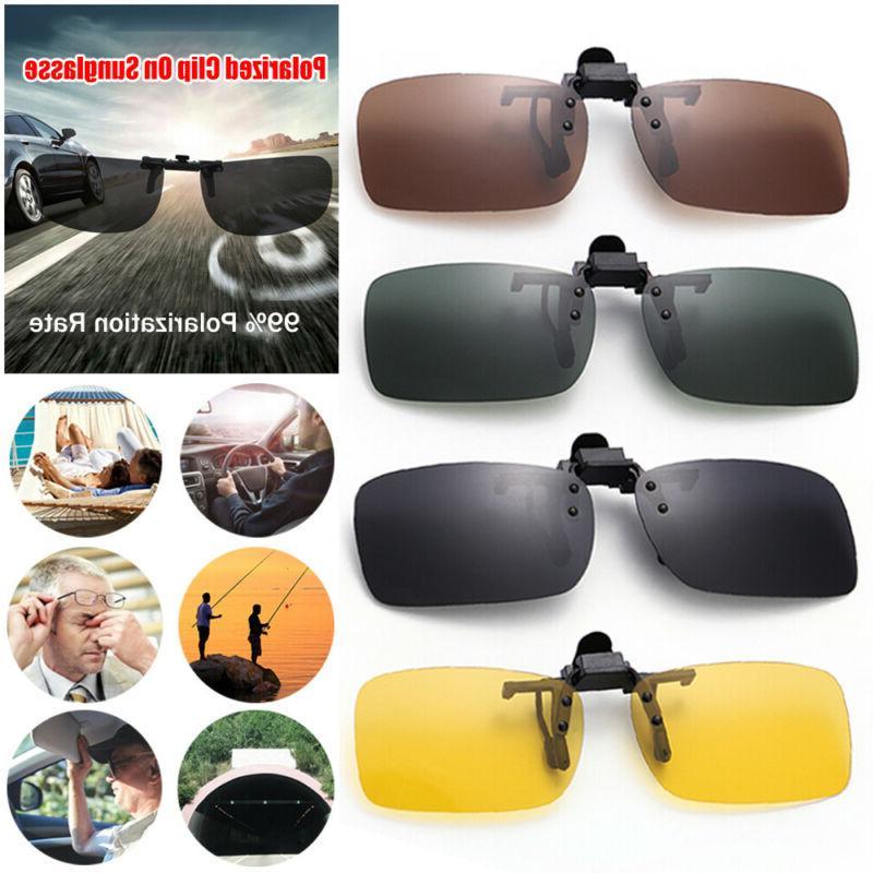 Polarized Flip-up Lens Glasses Vision Clip Sunglasses