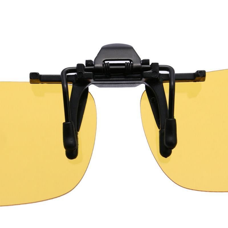 Polarized Flip-up Lens Driving Glasses Vision Clip On