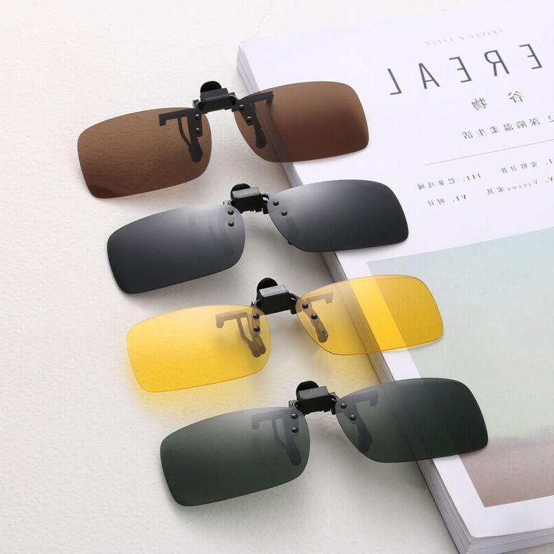 Polarized Flip-up Glasses Clip Sunglasses