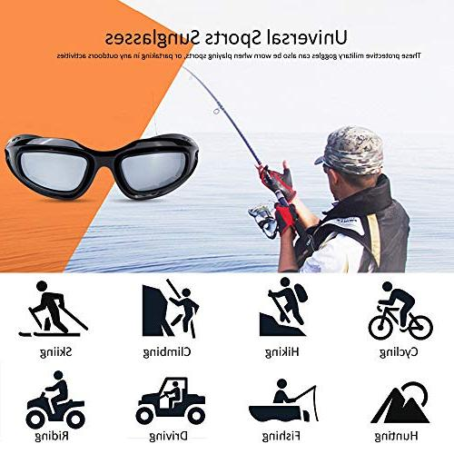 BELINOUS Polarized Glasses, Frame Kit Copper Clear for Sports Outdoor Cycling Climbing Hunting Fishing