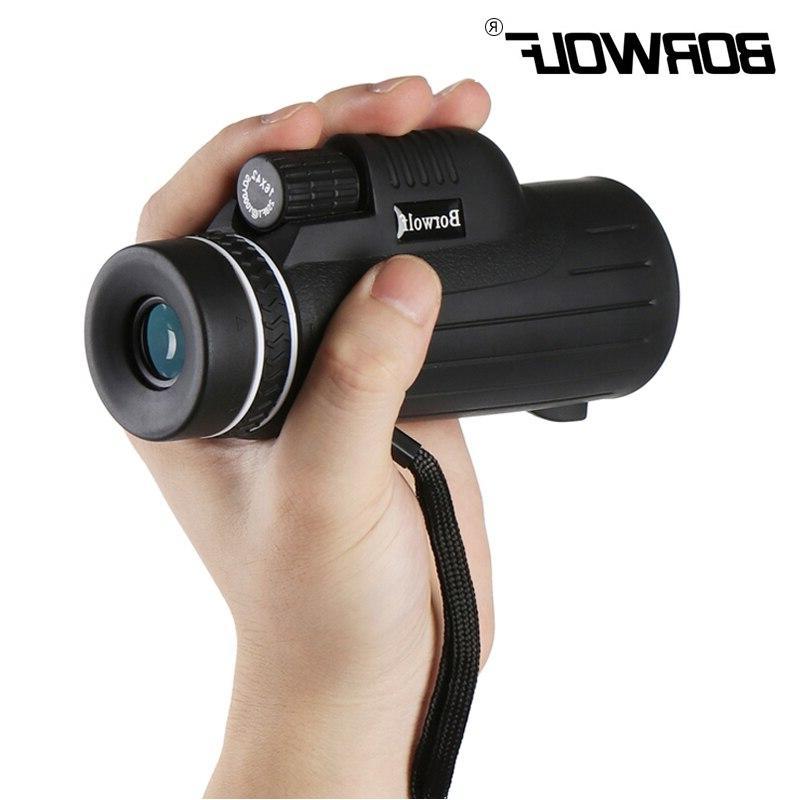 Borwolf Portable Hunting Waterproof Light <font><b>Night</b></font> <font><b>Vision</b></font> Zoom Monocular <font><b>Binoculars</b></font> High telescope