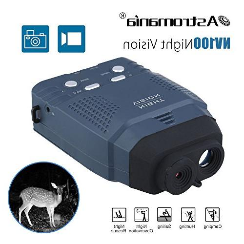 portable night vision monocular optics