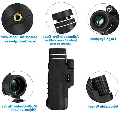 Occer Focus Scope, Monocular with BAK4 Multi-Coated Zoom Lens, Low Night Vision for Hunting Bird Watching Camping Sporting