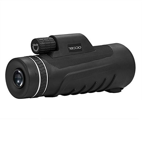 Occer 10X42 Monocular HD Dual Focus Scope, Waterproof Monocular BAK4 Zoom Vision for Hunting Bird Watching Outdoor Sporting