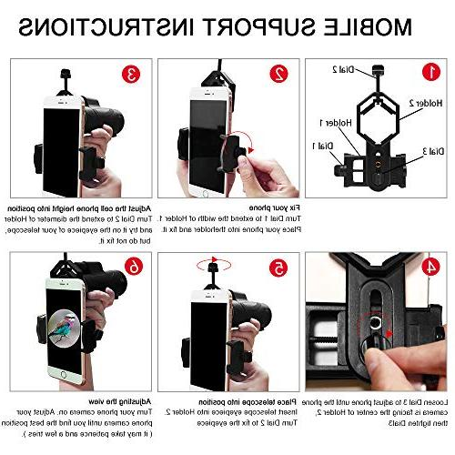 Allo 12x42 High HD Monocular Low Night Vision for Adults Phone and Tripod Watching, Outdoor