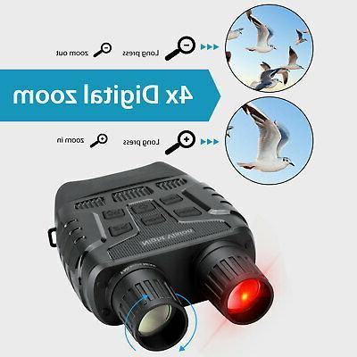 Night Binoculars HD 4X Digital Infrared Hunting Telescope Camera