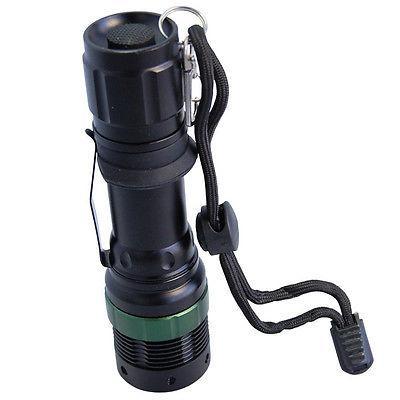 HQRP Light LED Black Flashlight for Aviation, Night Vision