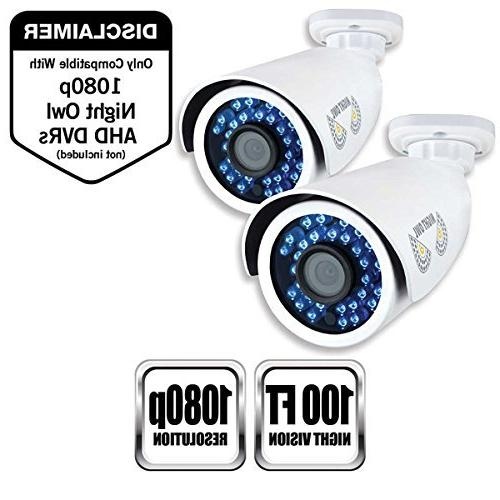 Night Security, Pack Analog 1080p HD Bullet Cameras
