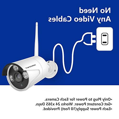 Wireless System,SMONET 8CH Wireless Network IP Camera System,4pcs Indoor/Outdoor IP Hard Drive