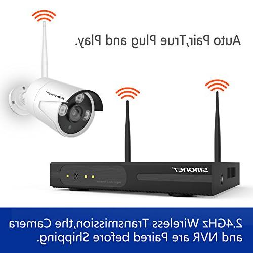 Wireless Security System,SMONET 8CH 960P HD Wireless Network Security Camera IP Hard