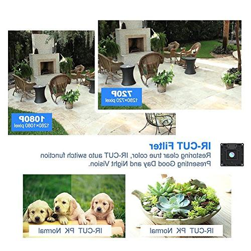 Security Camera System, Security 1080p 8 PoE IP Surveillance Camera with Outdoor/Indoor Free View, Super HD Hard Drive