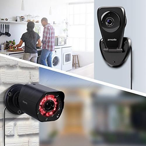 Zmodo Full HD 1080p Security Camera System w/Repeater,