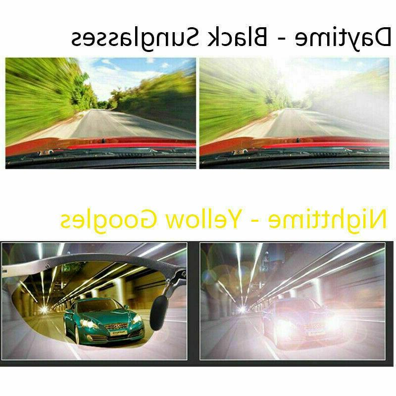 SET OF PAIRS Day & Night HD Driving Glasses