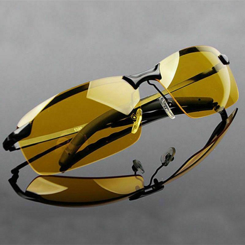 SET OF 2 PAIRS Day & Night Vision Polarized Sunglasses Drivi