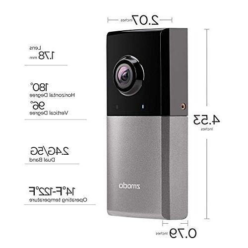 Zmodo Wireless Security Camera, HD Surveillance System Viewing Angle, - Works