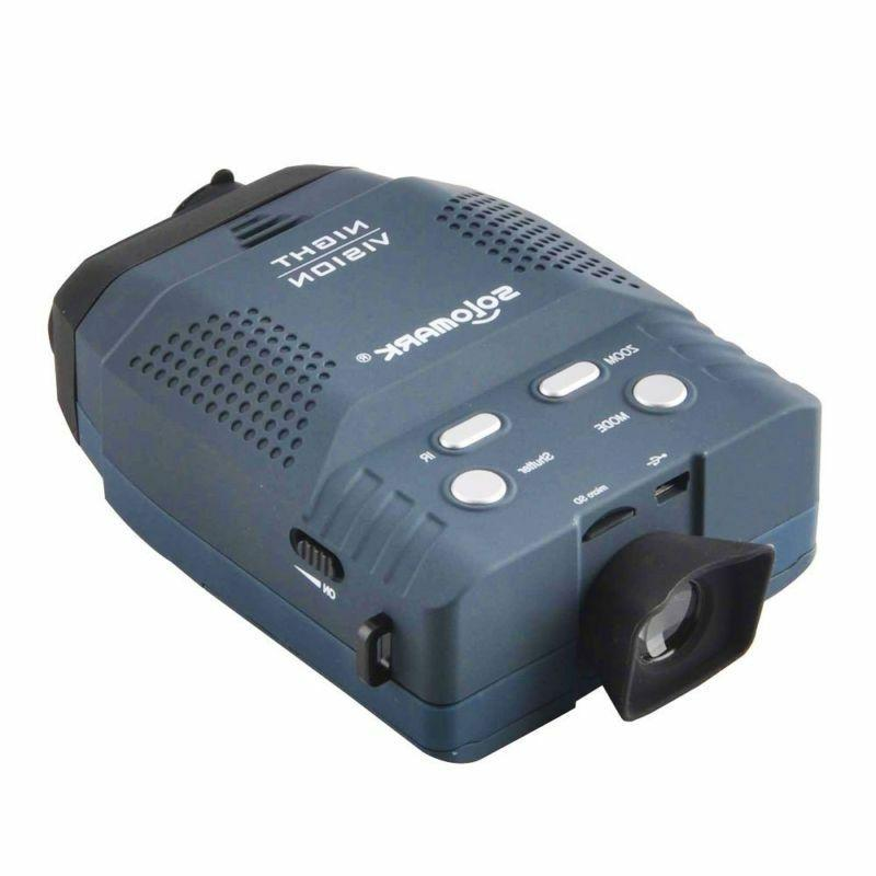 Solomark Night Monocular, Blue-Infrared Allows Viewing In