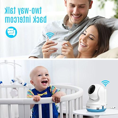 TENKER Digital Sound Activated Video Record with 4.3-Inch Screen, Camera Lullaby, Night Way Only Mode