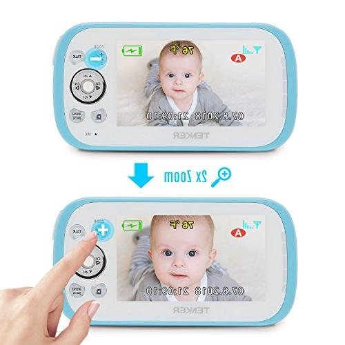TENKER Sound Video Monitor with LCD Screen, Camera Lullaby, Night Way Talk, Only Mode