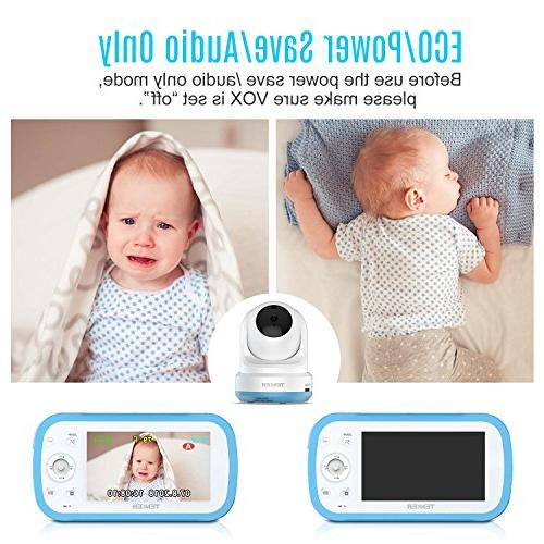 TENKER Digital Sound Video Record with 4.3-Inch Screen, Remote Lullaby, Mode