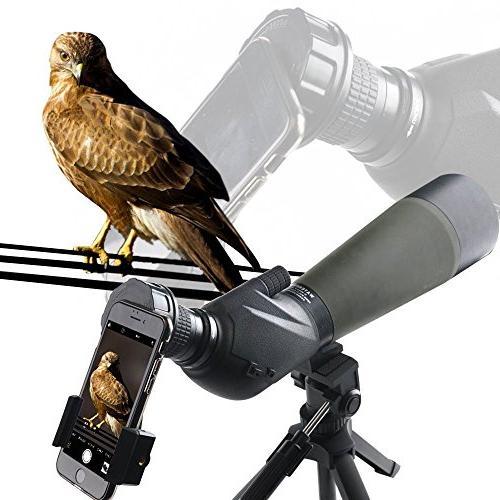 Solomark Spotting Smartphone Adapter - Telescope Phone Adapter for Spotting Binocular Monocular Telescope