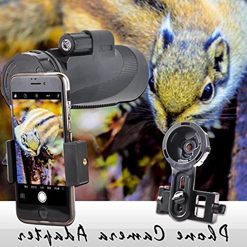 Solomark Spotting Scope Smartphone Adapter - Phone Adapter Digiscoping Adapter for Spotting Binocular Monocular Telescope