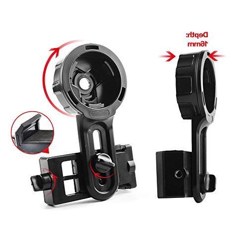 Solomark Spotting Scope Adapter - Telescope Phone Adapter - Adapter Binocular
