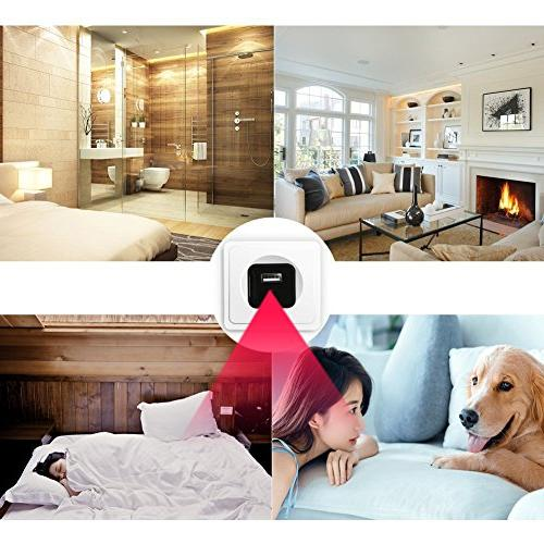 Hidden Vision - Security Cameras - Wireless Nanny Cams Wall - Motion Sensor Camaras - Cop