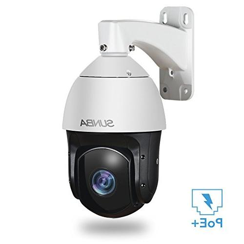 SUNBA PoE+ High Speed PTZ Security Zoom with and Night Vision