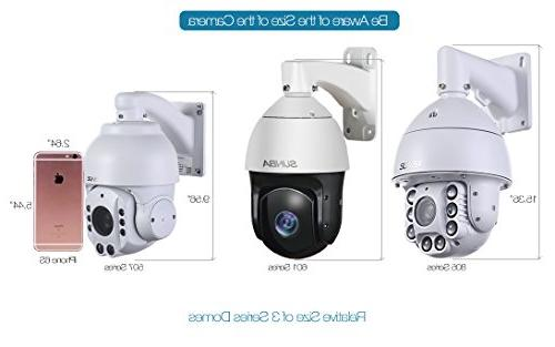 SUNBA High Security Camera, Zoom 1080P with Vision up 800ft