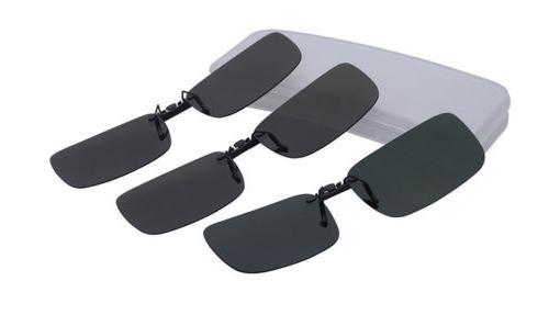 UV400 Sunglasses Clip On Flip-up Day Night Glasses