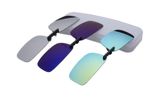 UV400 Sunglasses Polarized Clip On Driving Day Night Vision Lens