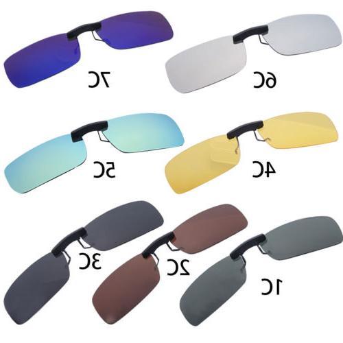 UV400 Sunglasses On Flip-up Driving Night Vision Lens