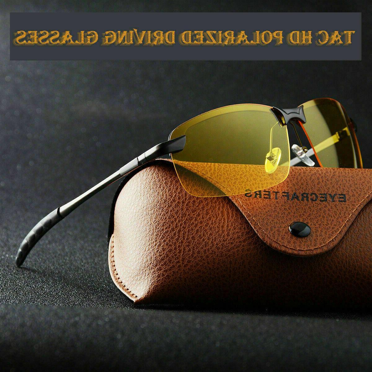 Tac HD+ Polarized Day Night Vision glasses Men Driving Pilot