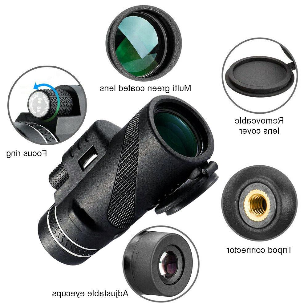 Telescope 40X60 Dual Monocular HD Optics Zoom Day