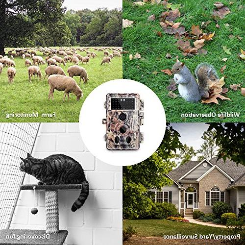 "Meidase Trail Camera 1080P, No Up to 65ft, 0.2s Trigger Motion Activated, 2.4"" Screen and Unique Keypad, Hunting"