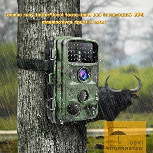 "TOGUARD Trail 1080P Camera Wildlife Hunting Cam Detection with 0.3s 2.4"" Waterproof"