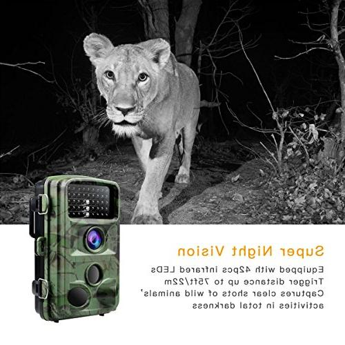 "TOGUARD 1080P Camera Motion Hunting with 2.4"" LCD Waterproof"