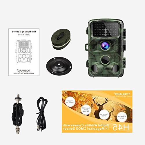"1080P Night Game Camera Hunting with Trigger 2.4"" LCD Waterproof"