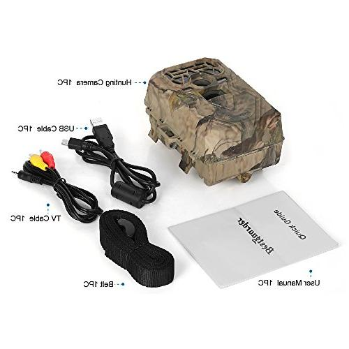"Trail Camera Game Camera Waterproof IR LEDs Takes HD Image 75feet Distance 2.0"" LCD Screen for / & / Observation"