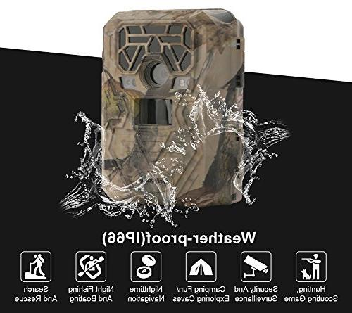 Trail Camera Night Vision LEDs Image 1080p Video 75feet with LCD Screen for / Security / Wildwife