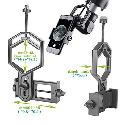 Solomark Adapter - Binocular Telescope Microscope Phone Sony Samsung