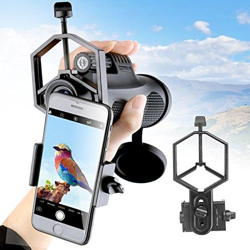Solomark Universal Cell Phone Adapter Mount Binocular Monocular Telescope Microscope Samsung Moto Etc