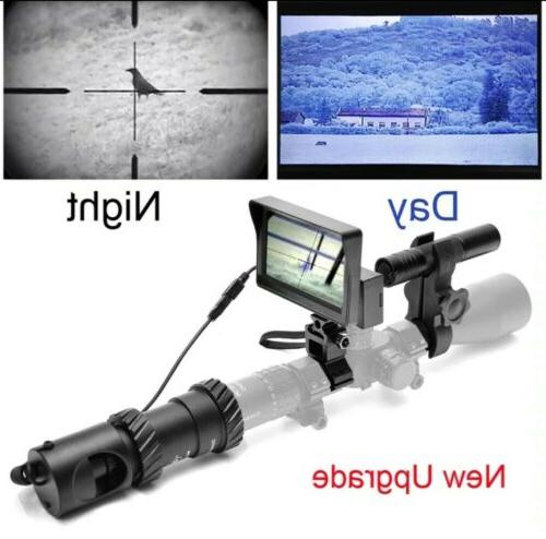 Upgraded Tactical Night Vision Riflescope Outdoor Hunting Sc