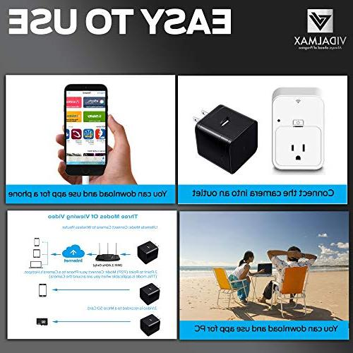 USB Spy Wireless Hidden with Real Time Motion – Hidden Camera Spy Night Vision – Camera Wall Charger 1080P Video Charger Camera
