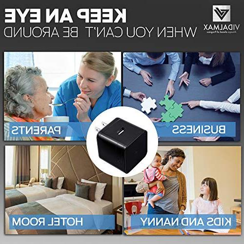Hidden with Real Motion Hidden Camera Spy with Night Vision – Camera 1080P Video Recording-WiFi