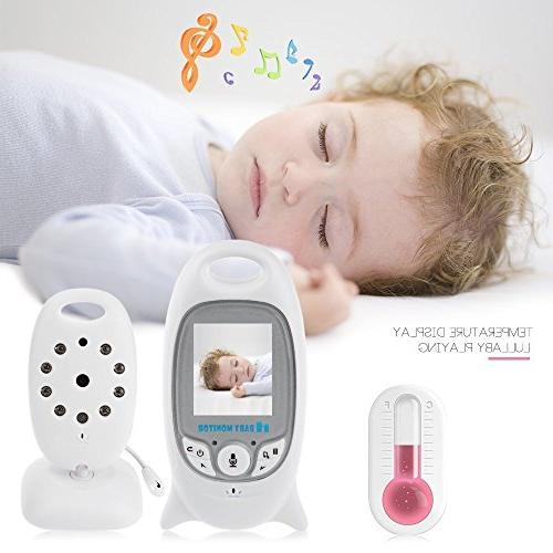 Old People VB601-1 Video Baby Monitor White iLifeSmart Wireless Baby Monitor Video with Night Vision Two-way Talk 2.4 inch LCD Temperature Monitor for Baby Pet