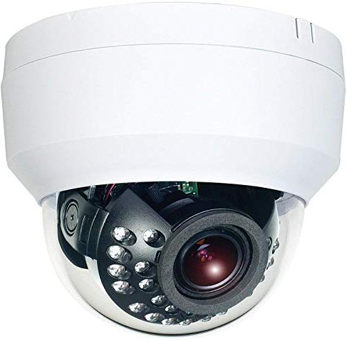 HDView 4K 8MP IP Network Infrared Night Vision Motorized Lens Audio and Out Out IP66 Dome, VCA Analytics