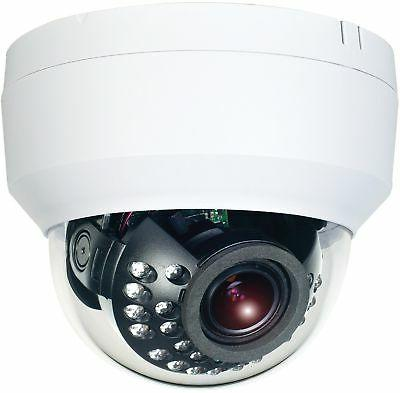 HDView 8MP Infrared Night Vision Lens Audio in Out Alarm and Out IK10 Dome, VCA Intelligent
